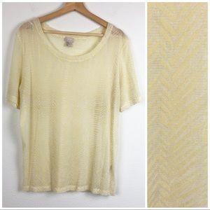H&M Sheer Long Sleeve T Shirt Geometric Print 12